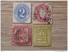 Mini Altdeutschland Marken Lot - Baden / Schleswig / Sachsen / Hamburg - gestempelt / ungestempelt