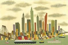 Matte Stephens makes me want to move to New York. http://www.etsy.com/listing/84112208/manhattan-limited-edition-13x19-print-by