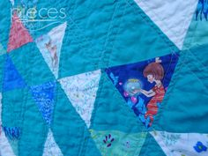 Wee Wander Triangle Scrap Quilt - Bloggers Quilt Festival Entry