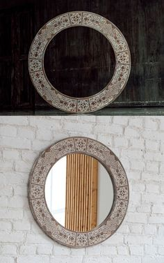Traditional mirror Eco Friendly Paint, Traditional Mirrors, Ethnic Patterns, Round Frame, Solid Pine, Wooden Frames, Glass, Modern, Design