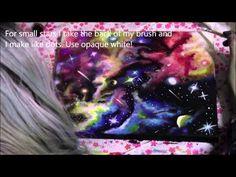 DIY: Galaxy/space painting silhouette girl acrylic tutorial - YouTube