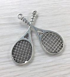 15 pcs Tennis Pendants I love tennis Charms    I by findingsonline