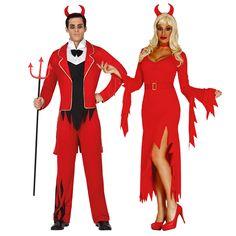 Pareja Demonios Rojos #parejas #disfraces #carnaval #novedades2016
