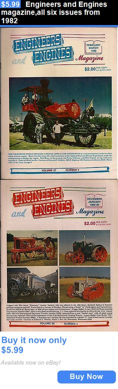 Magazines: Engineers And Engines Magazine,All Six Issues From 1982 BUY IT NOW ONLY: $5.99