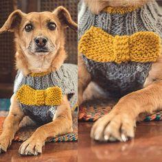 Derrochando estilo con este modelo de sweater con humita tejida.