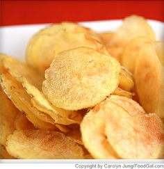Microwave Potato Chips  Calories181 Carbohydrates35.5 g Dietary fiber2.6 g Cholesterol0 mg Fat3.1 g Saturated fat0.5 g Sodium211 mg Protein4 g