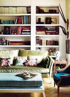 Biblioteca de la casa de Laura Ponte