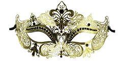 Luxury Mask Women's Laser Cut Metal Venetian Masquerade Crown Mask, Masquerade Masks for Women Mens Masquerade Mask, Venetian Masquerade, Venetian Masks, Traditional Japanese Tattoos, Laser Cut Metal, Gothic Fairy, Lowbrow Art, Christmas Gifts For Women, Henna Patterns