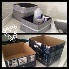#DIY cajitas recicladas para guardar pañales y utensilios para el momento del cambio de pañal