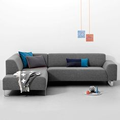 Bank met chaise longue fabio van linteloo interieur banken sofa 39 s pinterest chaise - Hoek sofa x ...