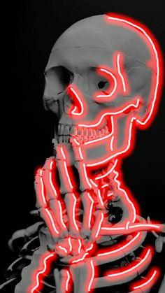 Neon Light Wallpaper, Goth Wallpaper, Iphone Wallpaper Images, Graffiti Wallpaper, Iphone Background Wallpaper, Aesthetic Iphone Wallpaper, Trippy Painting, Small Canvas Art, Skeleton Art