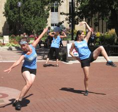 Modern Dance performance by HAAN Dances 12 at 12 noon project on The Pearl Street Mall part of the Boulder International Fringe Festival