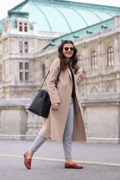 Gucci Jordaan Loafer | Pinstripe Trousers | Mansur Gavriel Bucket Bag | Dior So Real | Vienna Opera | Fashionnes