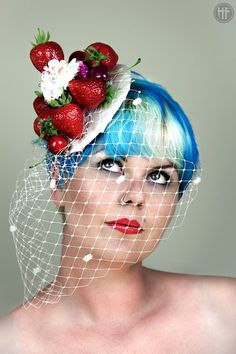 Strawberries and Cream Cupcakes Fascinator by ggspinupcouture 8f1884c3406a