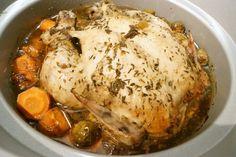 Crockpot- Helstekt kyckling med balsamvinäger och honung Hur lagar man bäst en hel kyckling? För mig så är det tiden som är nyckeln, men hur vet man hur länge den ska stå? Detta är en återkommande diskussion. Anledningen till att vi skriver så vaga tider…