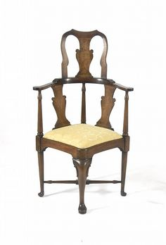 Queen Anne Style Corner Chair. Corner ChairEarly AmericanQueen AnneAntique  FurnitureColonial