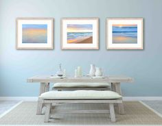 A personal favorite from my Etsy shop https://www.etsy.com/listing/467441136/set-of-three-3-prints-ocean-photo-set