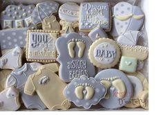 sweet baby shower cookies
