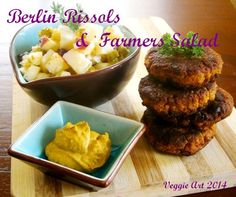 Berliner Rissols with Farmer Salad  I am very happy about the result of my new recipe for my rissols. Check out my recipe at my page ... http://veggie-art.weebly.com/german.html
