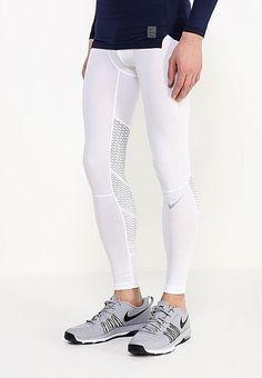 $50 NEW MED Nike Pro Hypercool Men's Training Tights Pants White 801250 100