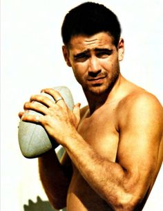 Young Collin Farrell, beautiful
