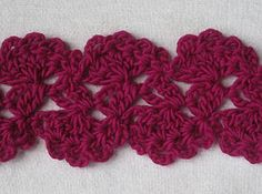Lovely stitch for scarf with great tutorial.