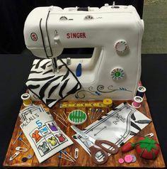 A sewing machine cake?!?