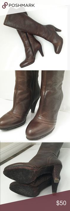 """Cafenoir knee length boots!! Deals! Cafenoir knee length boots!! Deals! Please see picture. I rarely wear it. Only 3 times. It is comfy because it has a short platform and  it's 3"""" heels . 12"""" height from ankle to knee. I have to ship  late I'm traveling now. Be back at 8.8.16. Cafenoir Shoes Heeled Boots"""