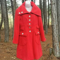Spotted while shopping on Poshmark: Red 'Cartise' Peacoat! #poshmark #fashion #shopping #style #Cartise  #Jackets & Blazers