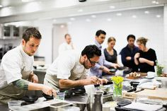 Chef Christopher Kostow and team in action. Photo featured in the May issue of Food Arts magazine.