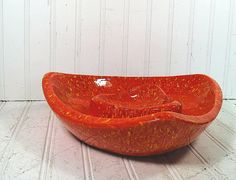 Oversized Orange Drip Ceramic Coffee Table AshTray by DivineOrders, $21.00
