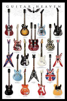 Poster: Guitar Heaven online te koop. Bestel je poster, je 3d filmposter of soortgelijk product Maxi Poster