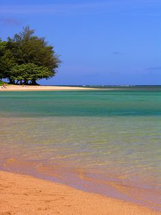 Anini beach, Kauai-spent many a days there.  Favorite place on earth.