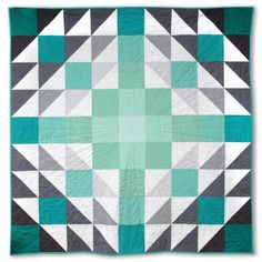 Ombre Vibes Quilt - free tutorial for this 54 inch square quilt