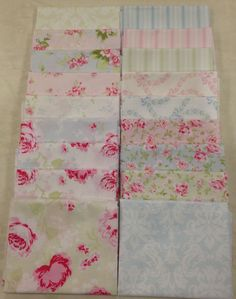 Shabby Chic Ballet Rose Fat Quarter Pack (18 pieces)