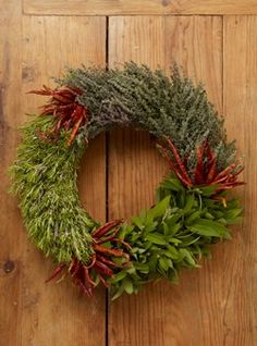I love this gift idea. For about $50, a culinary Three-Herb Wreath that dries naturally and can be used for cooking all year.