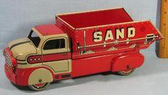 1950's Marx Sand Gravel Dump Truck Tin