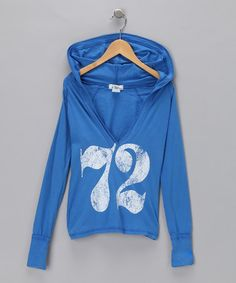 Take a look at this Olala '72' Hooded Tee by Blow-Out on #zulily today! #zulily #fall