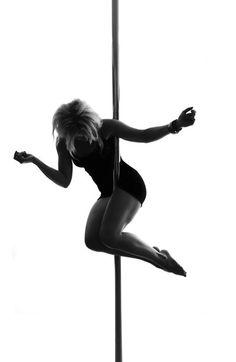 Glamorous pole dancing
