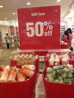 50% off shampoo and conditioner