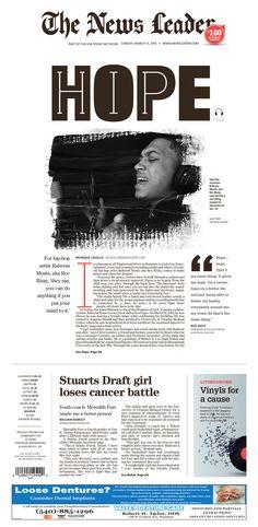 The News Leader 3/13/16 via Newseum