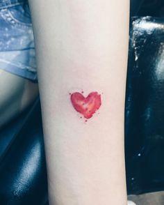 #tatt #tattoo #tattooidea #torontotattoo #torontotattooartist #tattooist #tattooartist #tattooflash #tattooedgirl #tattedgirl #tattoos #watercolortattoo #watercolor #coloredtattoo #smalltattoo #cutetattoo #finelinetattoo #likeforlike #hearttattoo little watercolour heart tattoo by helenxu_tattoo