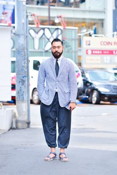 Casual suits with Teva sandals