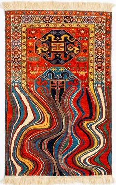 Faig Ahmed Contemporary Rugs from Traditional Azerbaijani Textiles — Contemporary Art Curator Magazine Carpet Diy, Magic Carpet, Rugs On Carpet, Fur Carpet, Carpet Ideas, Modern Carpet, Berber Carpet, Glitch Art, Home Decoracion