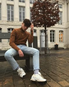 Retro Outfits, Mode Outfits, Fashion Outfits, Stylish Mens Outfits, Casual Outfits, Soft Grunge Outfits, Look Man, Vetement Fashion, Photography Poses For Men