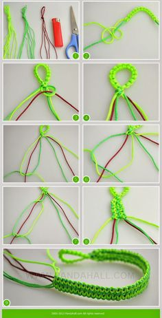 Different types of string bracelets. These instructions will lead you how to make cool hemp bracelets step-by-step. Via learning this tutorial, you will find another way making marvelous string bracel (How To Make Bracelets Armband) Paracord Bracelet Instructions, Paracord Bracelets, Survival Bracelets, Macrame Jewelry, Macrame Bracelets, Diy Hemp Bracelets, Gimp Bracelets, Hemp Jewelry, Jewelry Knots