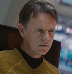 Bruce Greenwood as Captain Christopher Pike in 2009's Star Trek.