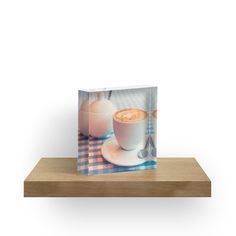 Morning cup of coffee by Mariia Kalinichenko. Morning cappuccino. Aroma awakening. • Also buy this artwork on home decor, apparel, stickers, and more.