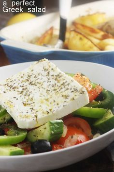 A perfect Greek salad - recreate an authentic Greek salad from your Mediterranean holiday