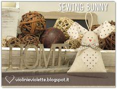 VIOLINI E VIOLETTE: sewing bunny